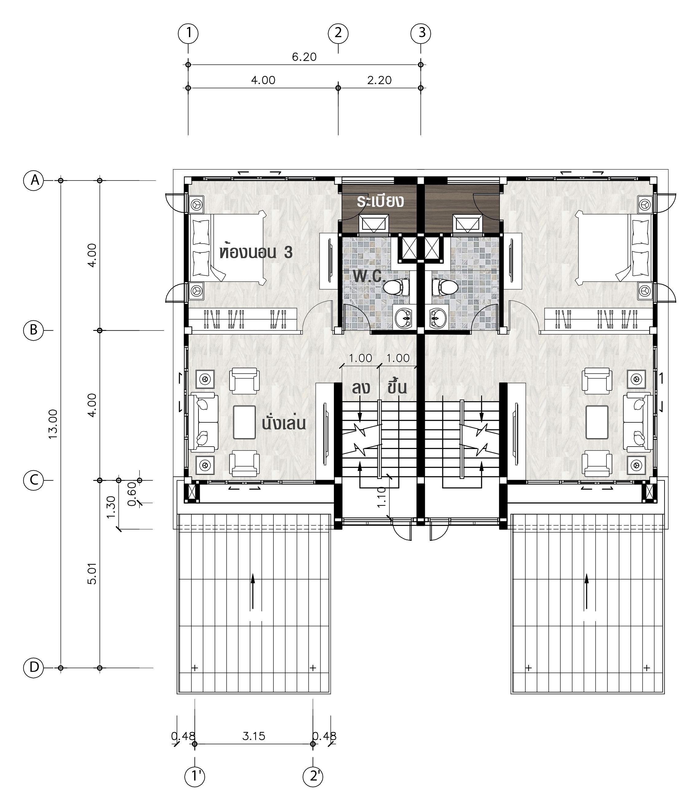 แบบบ้านชั้น 2