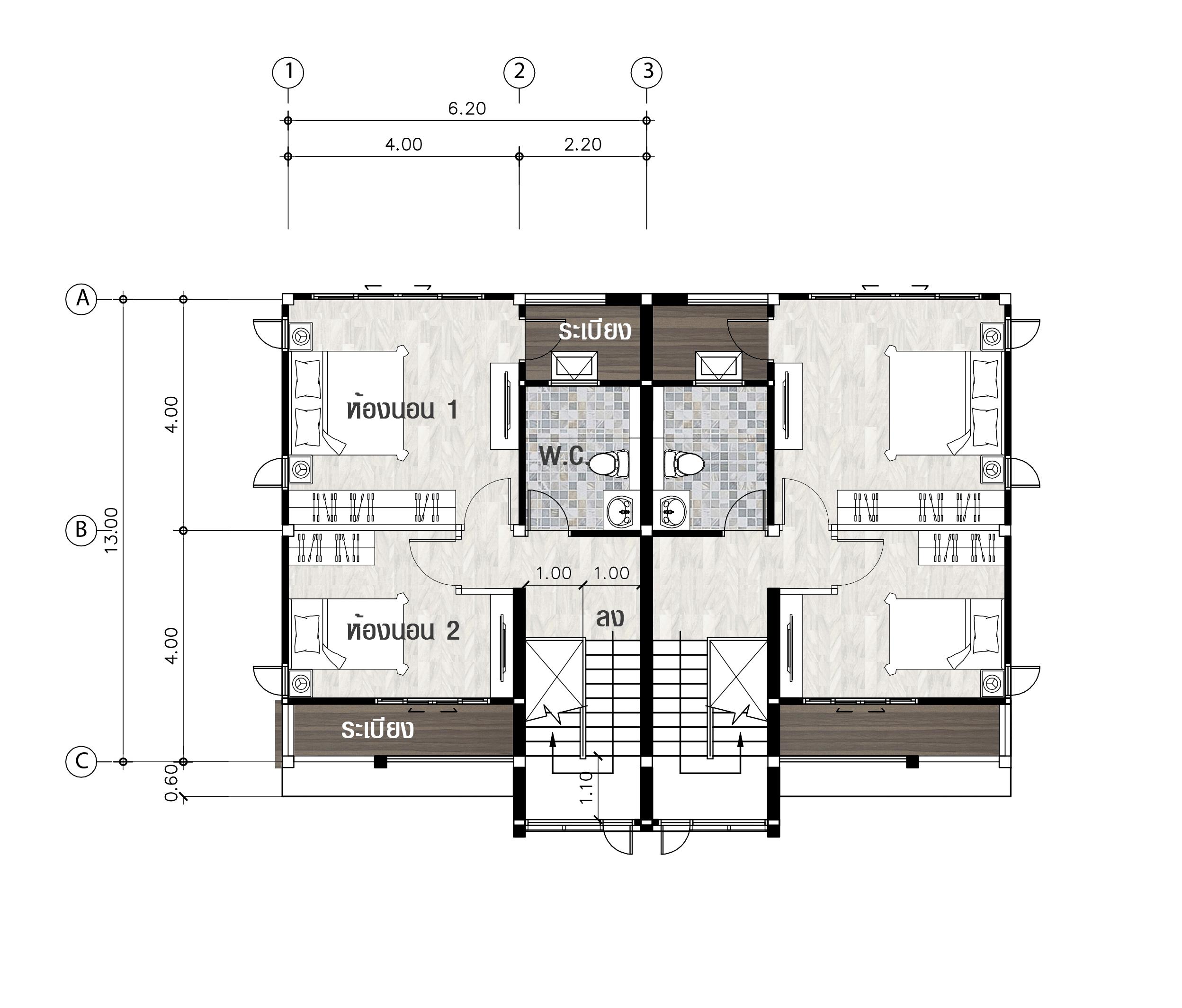 แบบบ้านชั้น 3